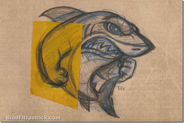 shark drawing, logo shark drawing, cool drawing of a shark
