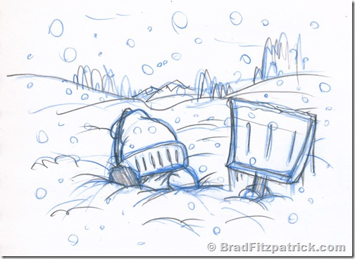 drawing-of-man-buried-in-snow