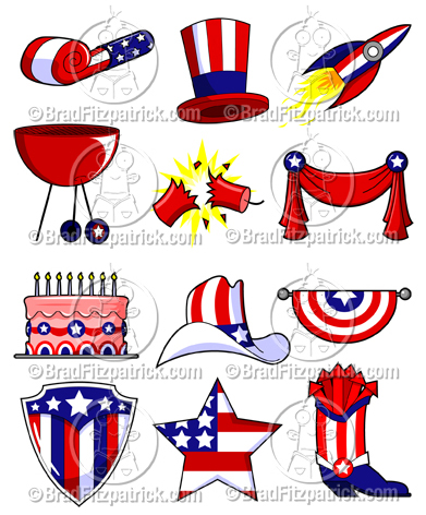 All 30 4th of July Clipart Graphics Below Are Included in This Collection!