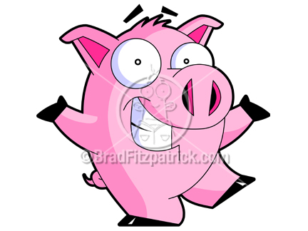 Cartoon Pics Of Pigs. Cartoon Pig Clip Art Character
