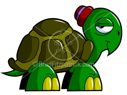 Cartoon Turtle Clipart Character  Royalty Free Turtle Picture
