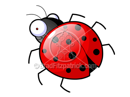 Cartoon Ladybug Clipart Character | Royalty Free Lady Bug Picture ...