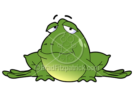 The cartoon frog clip art illustration above will be delivered to your email