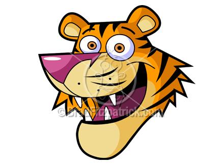 tiger head clipart
