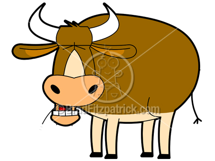 Cartoon Cow Clipart Character | Royalty Free Cow Picture Licensing.