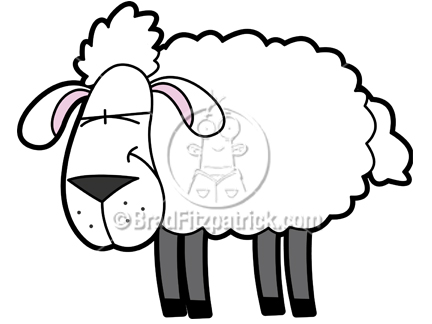 Cartoon Sheep Clipart Character