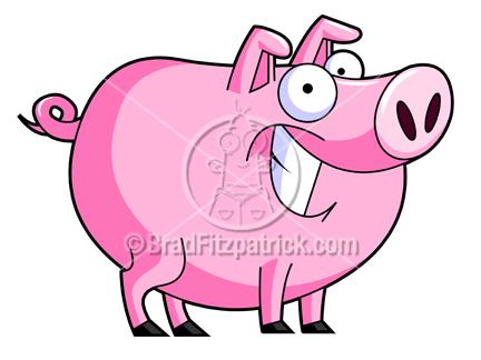 pig stock illustration royalty free pig clipart cartoon piggy rh bradfitzpatrick com Pig with Pitchfork Lipstick On a Pig