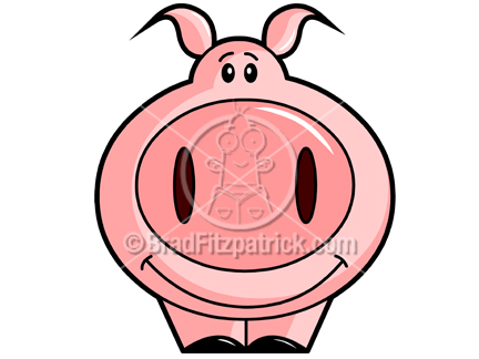 The cartoon piggy bank clip art illustration above will be delivered to your