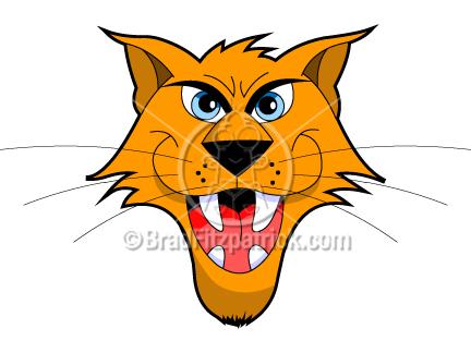 Cartoon Wildcat Clip Art | Wildcat Graphics | Clipart Wildcat Icon ...