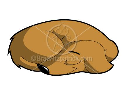 clipart dog. Cartoon Sleeping Dog Clipart