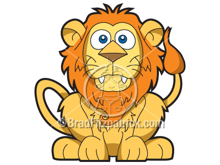 Lion Cub Drawing. Smiling Lion Clipart Graphics