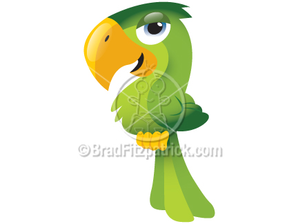 Cartoon Tropical Bird Clip Art | Tropical Bird Graphics | Clipart ...