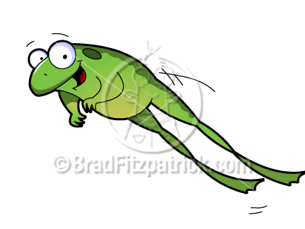 Cartoon Hopping Frog Clipart