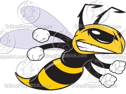 Cartoon Hornet Clip Art Hornet Graphics Clipart Hornet Mascot