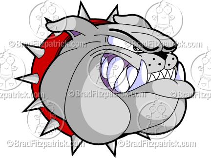 a bulldog head growling cartoon mascot logo clip art graphic icon rh bradfitzpatrick com bulldog clipart mascot free bulldogs clip art free