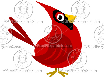 The cartoon Cardinal clip art illustration above will be delivered to your