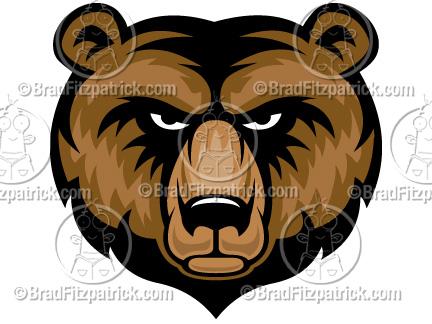 cartoon bear clip art bear graphics bear mascot clipart icon rh bradfitzpatrick com polar bear mascot clipart bear mascot clipart free
