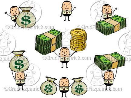 money clipart. Man Holding Money Clipart