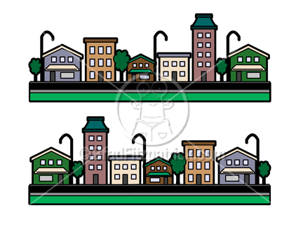 Cartoon Buildings Clipart Picture | Royalty Free Building Clip Art ...