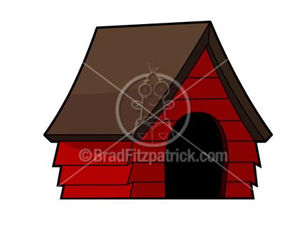 Doghouse Clip Art | Royalty Free Doghouse Clipart | Cartoon Doghouse