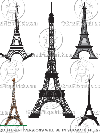 cartoon eiffel tower clipart