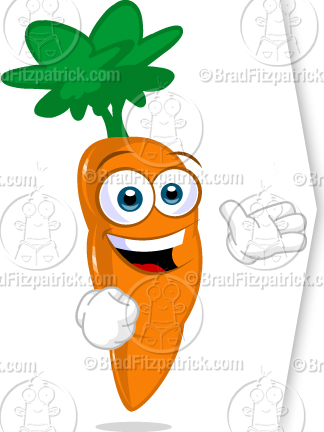 need a cartoon carrot character see my cartoon carrot character