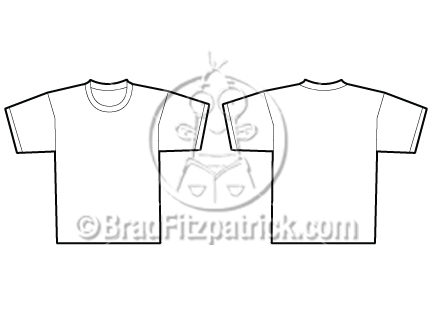 Vector White T Shirt Template Clipart Graphics