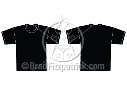 Shirt Vector Template Vector Black T-shirt Template