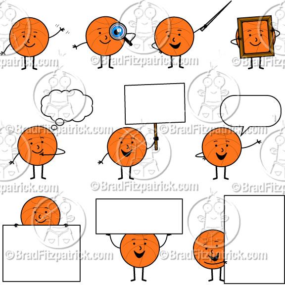 Cartoon Basketball Clip Art Cute Basketball Character Clipart