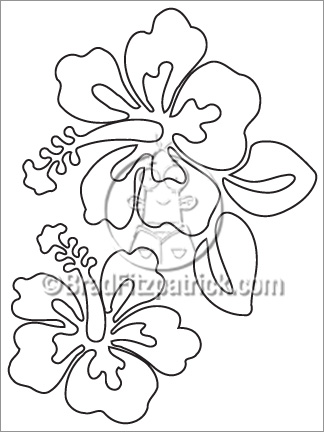 Hibiscus Coloring Sheet Page