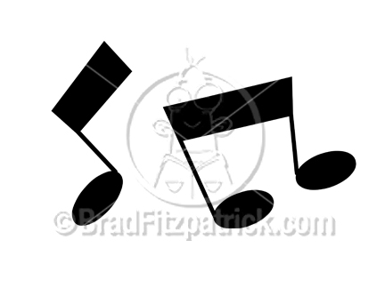 Cartoon Music Clipart Picture | Royalty Free Music Notes Clip Art Licensing.