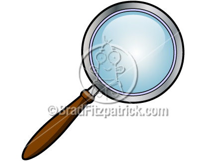 Cartoon Magnifying Glass Clip Art | Magnifying Glass Clipart ...