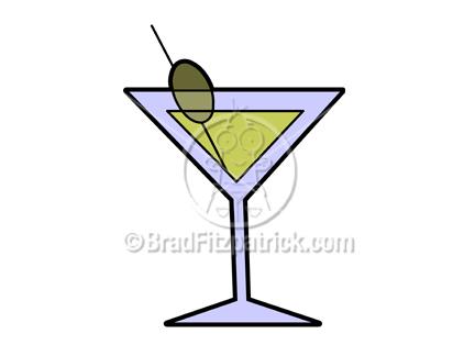 Cartoon Martini Illustration Royalty Free Martini Stock