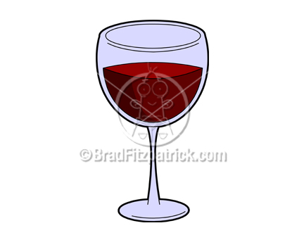 Wine Cartoons Free a Cartoon Wine Glass Picture