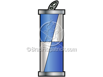 Cartoon energy drink clipart graphics