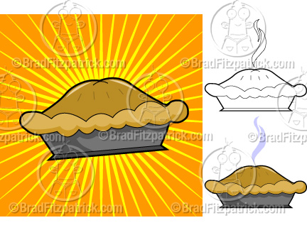 The cartoon apple pie clip art illustration above will be delivered to your