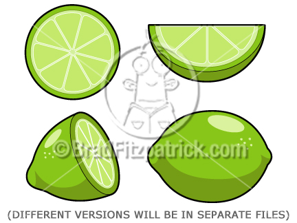 clip art fruit. Cartoon Lime Clip Art