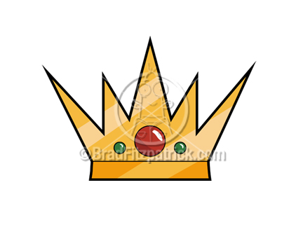 Cartoon Crown Clipart. The cartoon Crowns clip art illustration above will