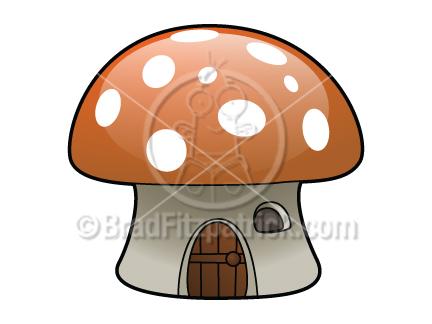 Cartoon Mushroom House Clip Art | Mushroom House Graphics ...