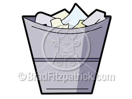 Cartoon Trash Can Clipart Picture | Royalty Free Garbage Clip Art ...