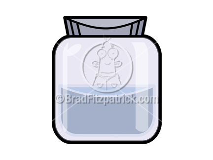 The cartoon jar clip art illustration above will be delivered to your email