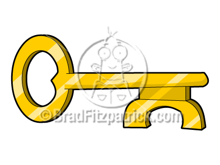 Cartoon Key Clip Art