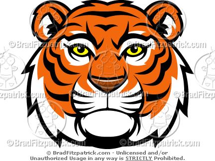 Cool Tiger Mascot Clip Art! - Tiger Head Mascot Logos, Pictures ...
