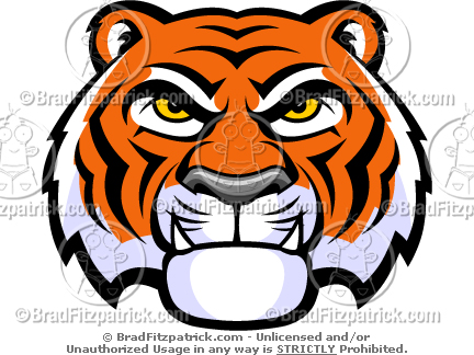 Angry Face Clipart Angry Tiger Face Cartoon