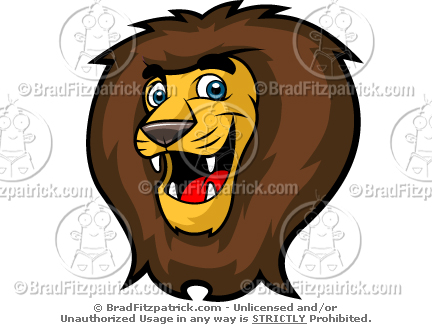 Kids Lion Head Mascot Clip Art  Kids Lion Head Mascot Logos