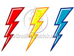 Cartoon Lightning Bolts Clipart Picture Royalty