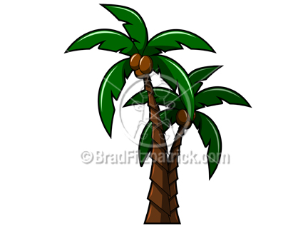 clipart of a pair of shaded palm trees clip art illustration rh bradfitzpatrick com clip art palm trees on beach clipart palm trees