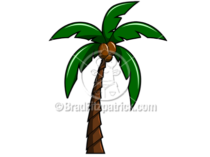 tree clipart. Palm Tree Clip Art Graphic