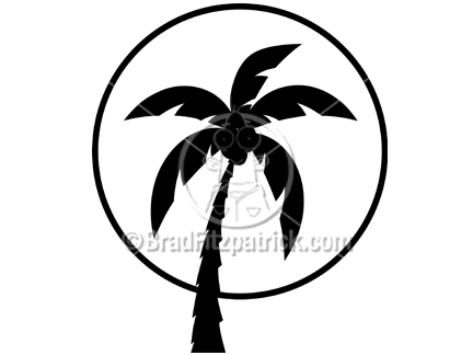 clip art tree. Silhouette Clipart of a Palm