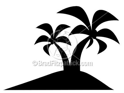 Palm Tree SilhouetteIsland Silhouette Clip Art